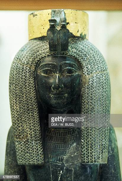 Granite statue of Isis mother of Tuthmosis III Egyptian civilisation New Kingdom Dynasty XVIII Detail Cairo Egyptian Museum