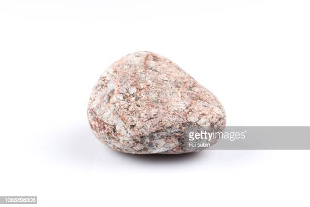 granite stone isolated over the white background - stone object stock pictures, royalty-free photos & images
