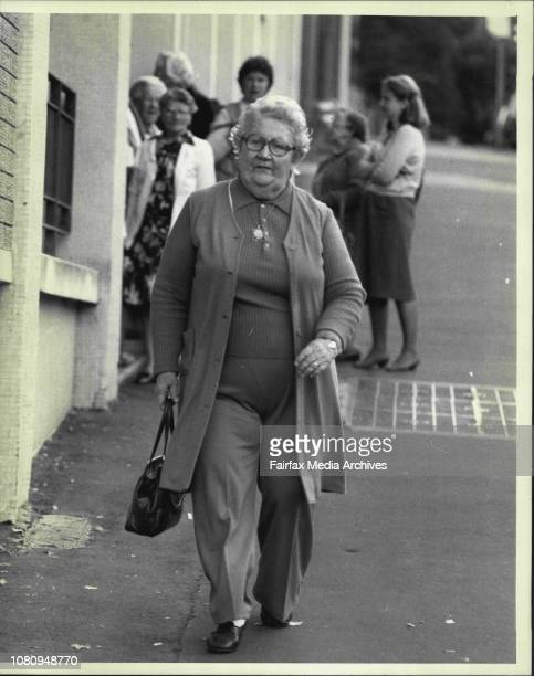 Granny BashingMrs Margaret McLeish photographed outside the King's Cross Activities Centre Potts PointMrs Margaret McLeish a Potts Point widow was...