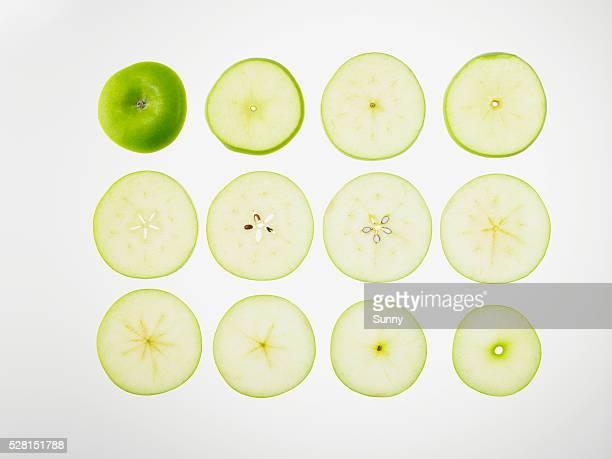 Granny smith apple slices