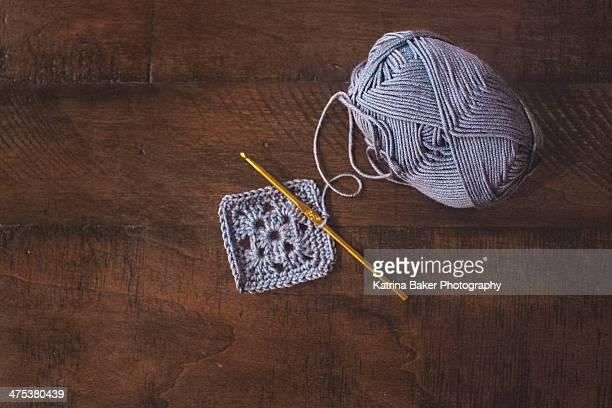 Granny Square in Progress (Crochet)