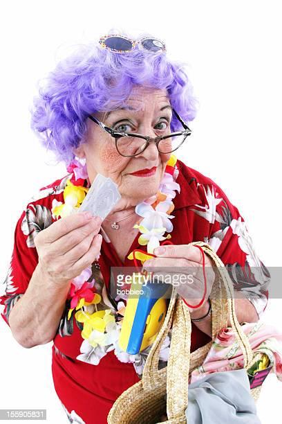 Série de Whack Granny : Touristiques avec les cartes de crédit