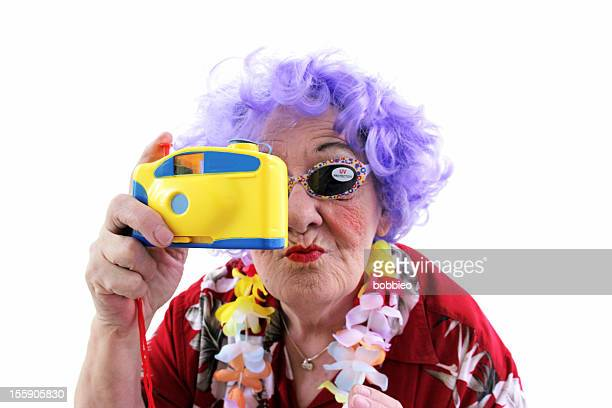 Granny Whack Series: Tourist with toy camera