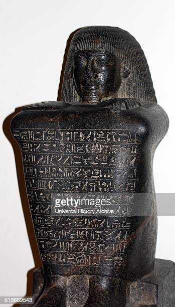 Granodiorite statue of Amenhotep, 18th Dynasty, about 1400 BC From Abydos. Amenhotep held the title of Overseer of the royal palace in Memphis.