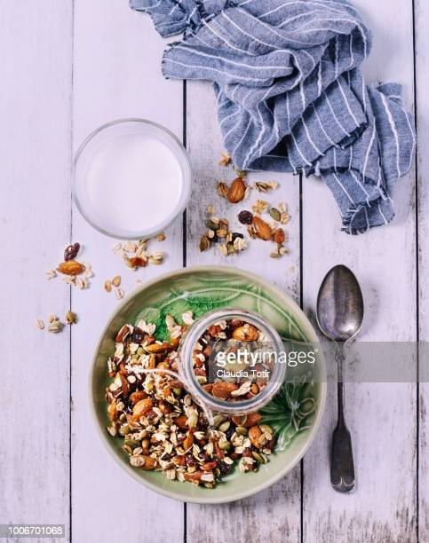 granola - dish towel stock pictures, royalty-free photos & images