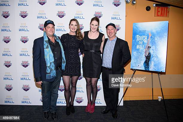 Grant A Barbeito Kara Lynn Joyce Missy Franklin and Christo Brock attend Touch The Wall New York Screening at Sunshine Landmark on November 23 2014...