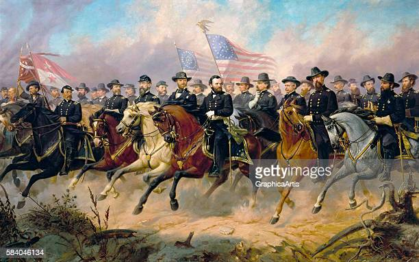 Grant and His Generals 1865 From the National Portrait Gallery Washington DC Oil on canvas