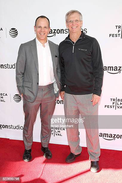 """Grant Anderson and computer scientist Alan Eustace attend """"14 Minutes from Earth"""" Premiere - 2016 Tribeca Film Festival at SVA Theatre 2 on April 20,..."""