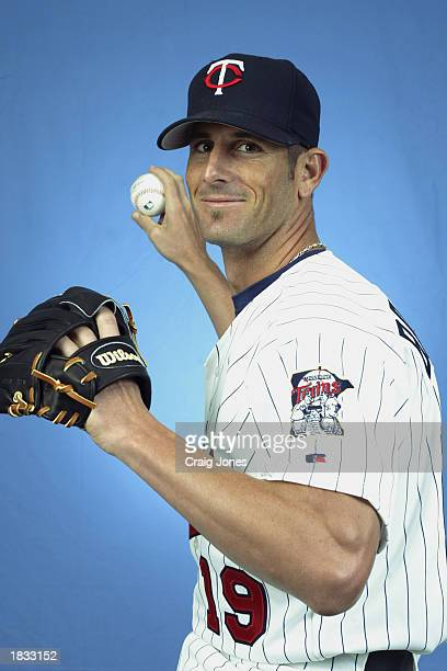 Grant Balfour of the Minnesota Twins poses for a portrait during theTwins' spring training Media Day on February 24 2003 at Ed Smith Stadium in...