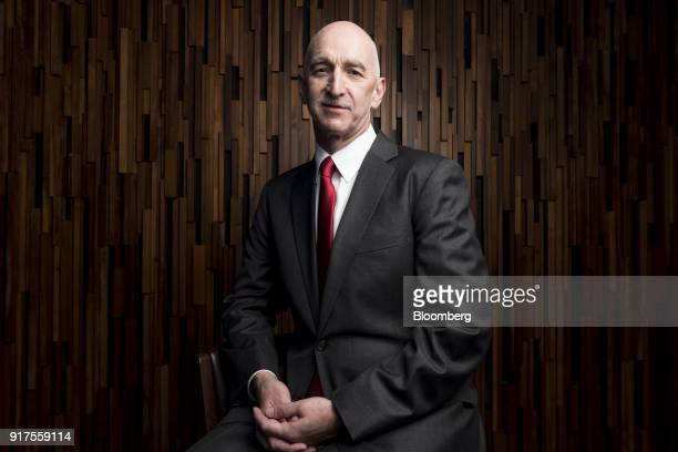 Grant Bowie chief executive officer of MGM China Holdings Ltd sits for a photograph in Macau China on Tuesday Feb 13 2018 MGM Resorts International's...