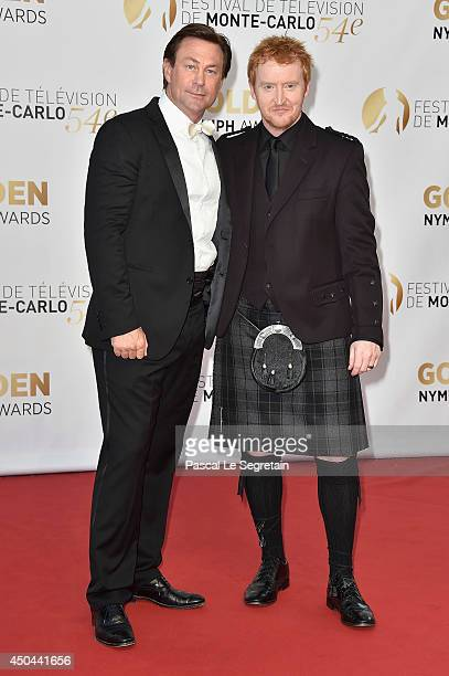 Grant Bowler and Tony Curran arrive at the closing ceremony of the 54th Monte-Carlo Television Festival on June 11, 2014 in Monte-Carlo, Monaco.
