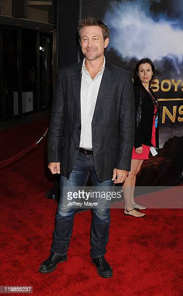 """Grant Bowler arrives at the """"Cowboys & Aliens"""" World Premiere at the San Diego Civic Theatre on July 23, 2011 in San Diego, California."""