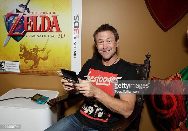Grant Bowler plays The Legend of Zelda 3D at Nintendo's Arts & Cinema Centre while at Comic-Con on July 22, 2011 in San Diego, California.