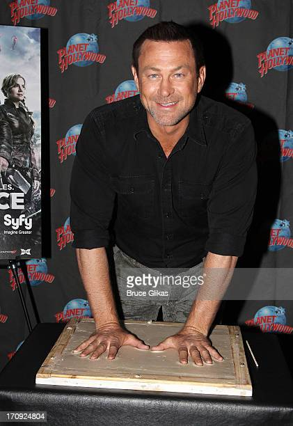 """Grant Bowler promotes Syfy Network's """"Defiance"""" as he visits Planet Hollywood Times Square on June 19, 2013 in New York City."""