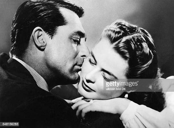 Grant Cary Actor Great Britain / USA * Scene from the movie 'Notorius'' with Ingrid Bergmann Directed by Alfred Hitchcock USA 1946 Produced by...