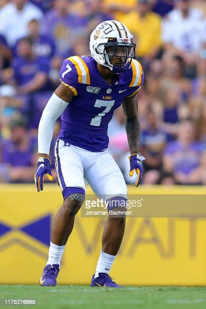 Grant Delpit of the LSU Tigers in action during a game against the Northwestern State Demons at Tiger Stadium on September 14 2019 in Baton Rouge...