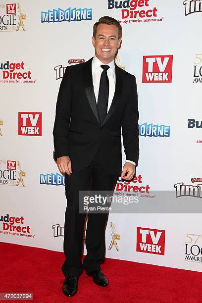 Grant Denyer arrives at the 57th Annual Logie Awards at Crown Palladium on May 3 2015 in Melbourne Australia