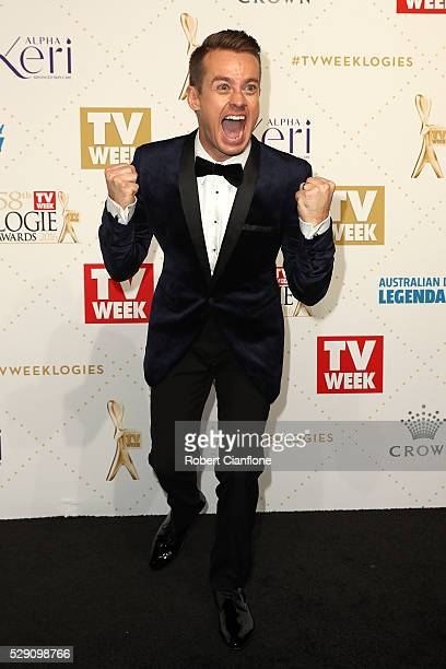 Grant Denyer arrives at the 58th Annual Logie Awards at Crown Palladium on May 8 2016 in Melbourne Australia