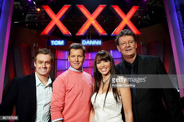 Grant Denyer Tom Burlinson Dannii Minogue and Red Symons pose together during a media call for 'Australia's Got Talent' at Global TV on April 18 2008...