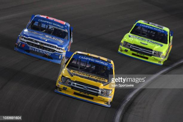 Grant Enfinger Champion Power Equipment Curb Records Curb Racing Ford F150 Stewart Friesen We Build America Chevrolet Silverado and Matt Crafton...