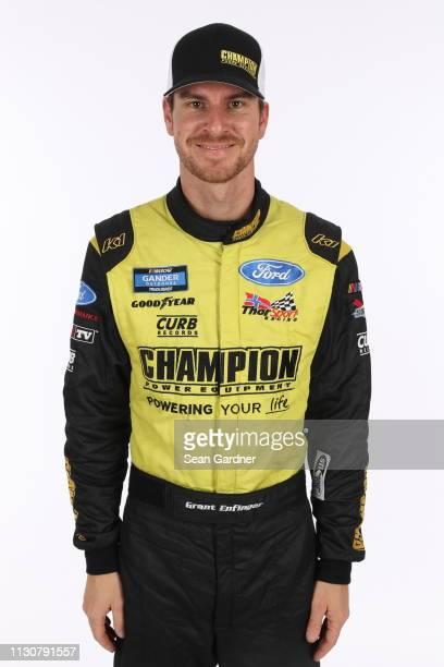 Grant Enfinger poses for a photo at Daytona International Speedway on February 15 2019 in Daytona Beach Florida