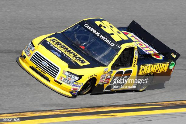 Grant Enfinger ThorSport Racing Champion Power Equipment/Curb Records Ford F150 during practice for the NextEra Energy Resources 250 NASCAR Camping...