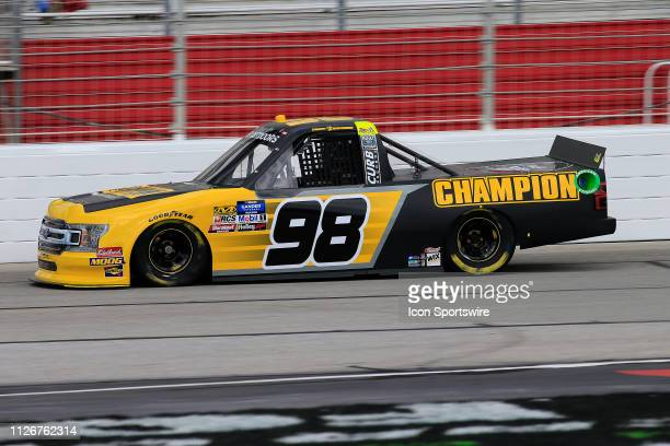 Grant Enfinger ThorSport Racing Ford F150 Champion Power Equipment during practice for the Ultimate Tailgating 200 NASCAR Gander Outdoors Truck...