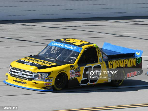 Grant Enfinger ThorSport Racing Ford F150 Champion Power Equipment/Curb Records on the track during the NASCAR Camping World Truck Series Playoff...