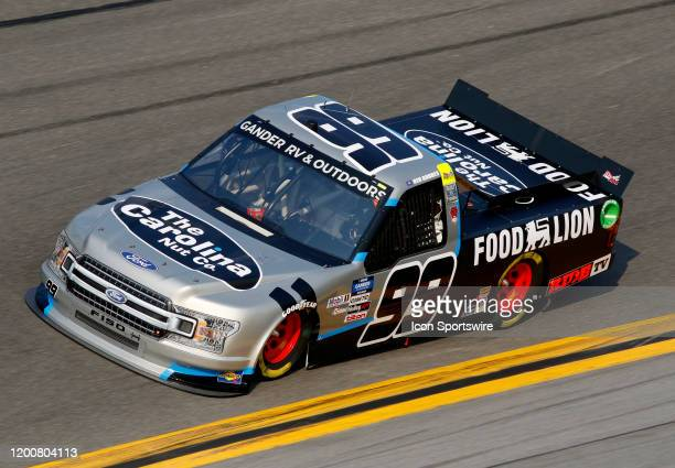Grant Enfinger ThorSport Racing Ford F150 ThorSport Racing during practice for the Gander RV Outdoors Truck series NextEra Energy 250 on February 13...