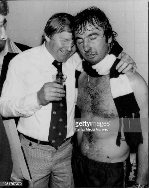 Manly versus Cronulla Manly coach Frank Stanton and Manly captain Max Krilich September 19 1978