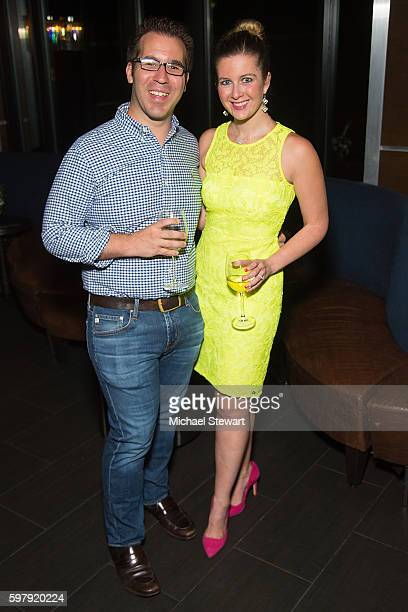Grant Friedman and Hallie Friedman attend 'The Light Between Oceans' New York party at Spyglass Rooftop at the Archer Hotel on August 29 2016 in New...