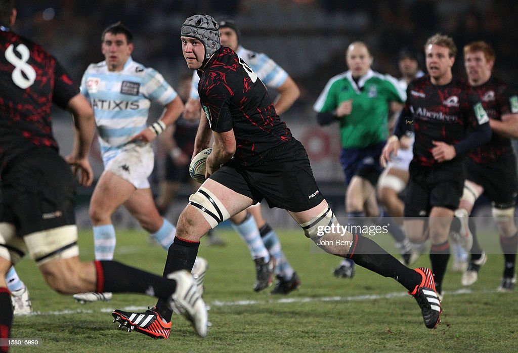 Grant Gilchrist of Edinburgh Rugby in action during the European Cup match between Racing Metro 92 and Edinburgh Rugby at the Stade Yves du Manoir on December 8, 2012 in Colombes nearby Paris, France.