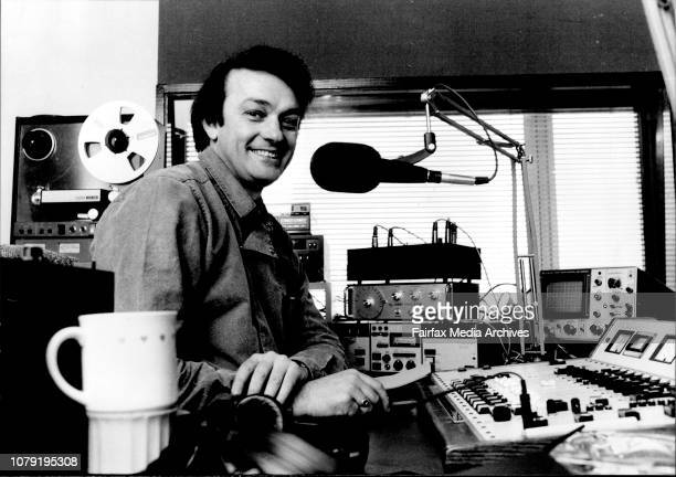 Grant Goldman 2Day FM Breakfast Announcer in the studio 220 Pacific Hway Crowsnest August 25 1983