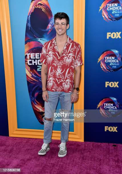 Grant Gustin attends FOX's Teen Choice Awards at The Forum on August 12 2018 in Inglewood California