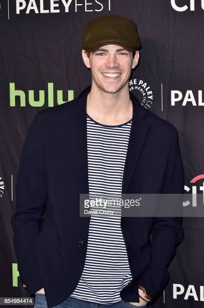 Grant Gustin attends PaleyFest Los Angeles 2017 CW's 'Heroes Aliens Featuring Arrow The Flash Supergirl and DC's Legends of Tomorrow' at Dolby...