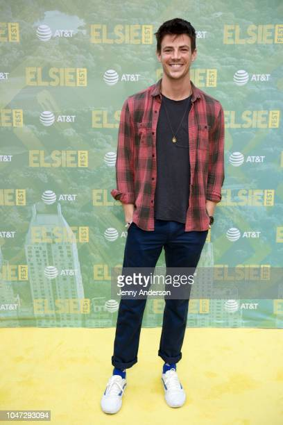 Grant Gustin attends the 4th Annual Elsie Fest Broadway's Outdoor Music Festival at Central Park SummerStage on October 7 2018 in New York City