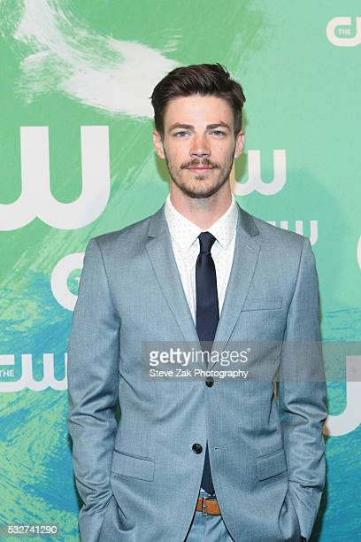 Grant Gustin attends The CW Network's 2016 New York Upfront at The London Hotel on May 19 2016 in New York City