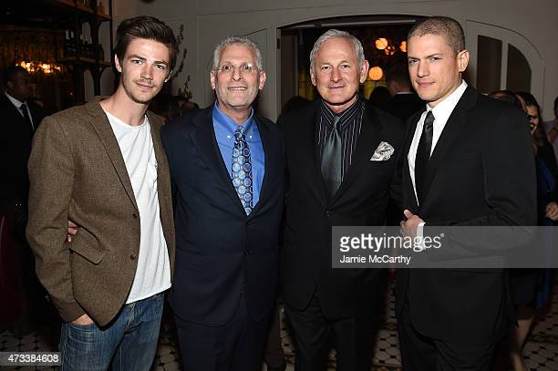 Grant Gustin Mark Pedowitz President of The CW Network Victor Garber and Wentworth Miller attend the CW Network's 2015 Upfront party at Park Avenue...