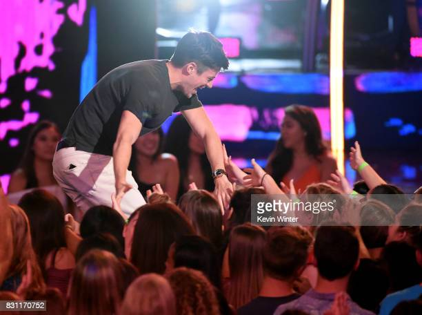 Grant Gustin wins Choice Action TV Actor for 'The Flash' onstage during the Teen Choice Awards 2017 at Galen Center on August 13 2017 in Los Angeles...