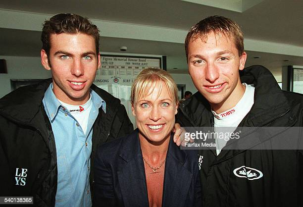 Grant Hackett Lisa CurryKenny and Ian Thorpe at the Ironman Competition 1 November 1998 ILM Picture by ANDY ZAKELI