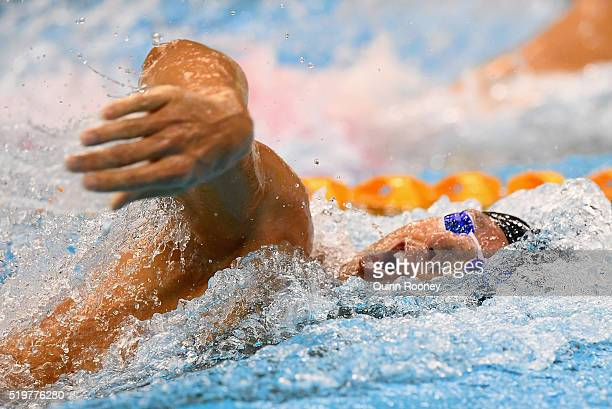 Grant Hackett of Australia competes in the Men's 200 Metre Freestyle during day two of the 2016 Australian Swimming Championships at the South...