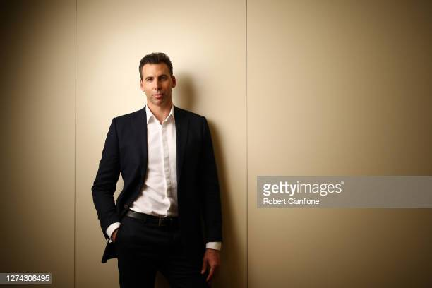 Grant Hackett poses during a portrait session at his home on September 11 2020 in Melbourne Australia Hackett won a gold medal in the Men's 1500m...