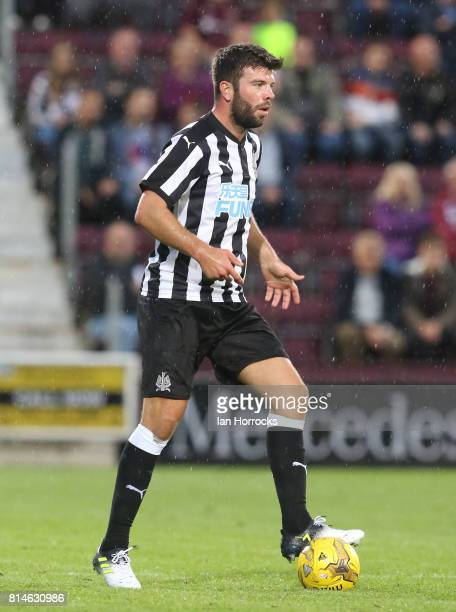 Grant Hanley of Newcastle during a preseason friendly match between Heart of Midlothian and Newcastle United on July 14 2017 in Edinburgh Scotland