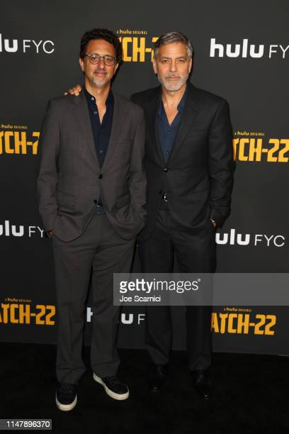 Grant Heslov and George Clooney attend FYC Red Carpet For Hulu's Catch22 at Saban Media Center on May 08 2019 in North Hollywood California