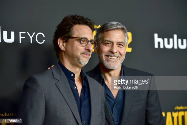 Grant Heslov and George Clooney attend the FYC Red Carpet for Hulu's Catch22 at Saban Media Center on May 08 2019 in North Hollywood California