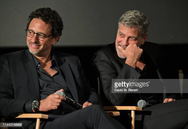 Grant Heslov and George Clooney attend the London Premiere of new Channel 4 show Catch22 based on Joseph Heller's novel of the same name at Vue...