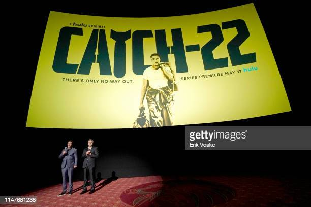 Grant Heslov and George Clooney attend the premiere of Hulu's Catch22 on May 07 2019 in Hollywood California