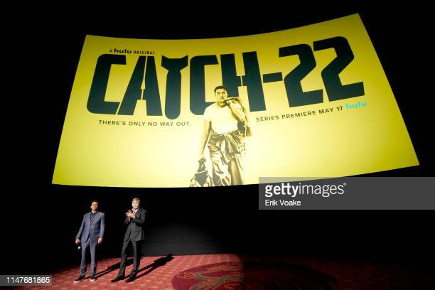 """Grant Heslov and George Clooney attend the premiere of Hulu's """"Catch-22"""" on May 07, 2019 in Hollywood, California."""