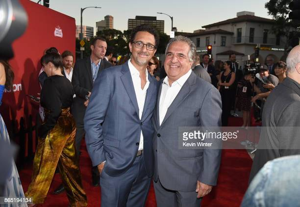 Grant Heslov and Jim Gianopulos at the Premiere of Paramount Pictures' Suburbicon at Regency Village Theatre on October 22 2017 in Westwood California