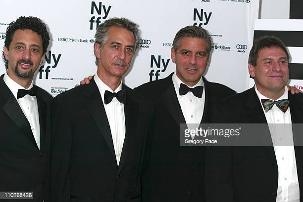 Grant Heslov cowriter of the film David Strathairn George Clooney director and Richard Pena